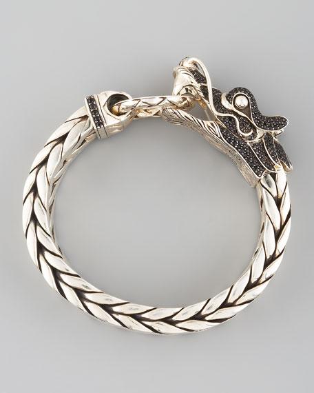 Naga Dragon Head Bracelet, Black Sapphire