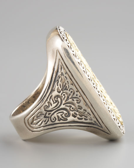 Rectangle Filigree Ring