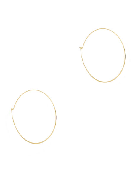 Whisper Medium Hoop Earrings, Golden