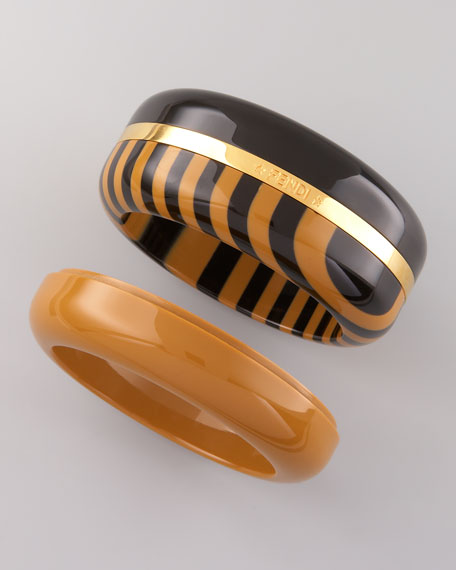 Interchangeable Enamel Bangles, Set of Three