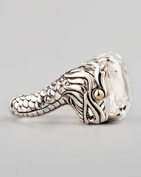 Naga Batu Ring, White Topaz