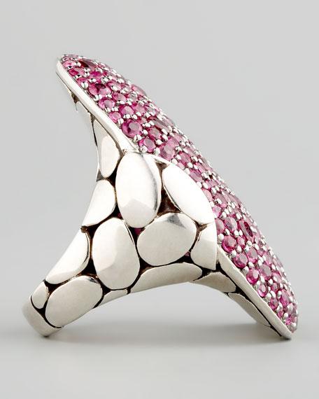 Kali Pave Ring, Pink Sapphire
