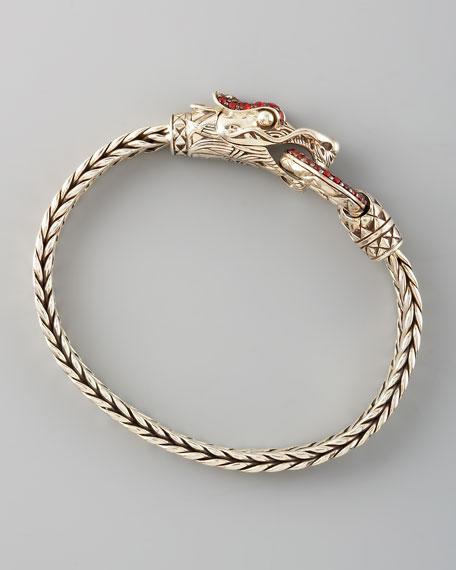 Naga Head Bracelet, Red Sapphire