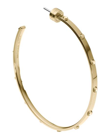 Astor Large Stud Hoop Earrings, Golden
