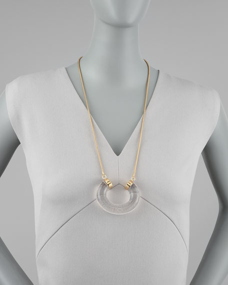 in the loop pendant necklace, clear