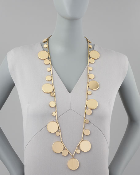 on the dot long necklace
