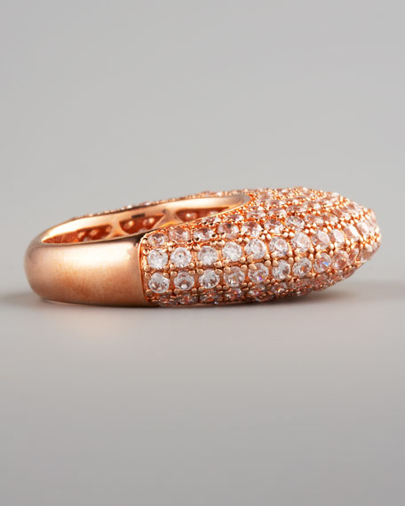 Pave Crystal Dome Ring, Rose Golden (CUSP Most Loved!)