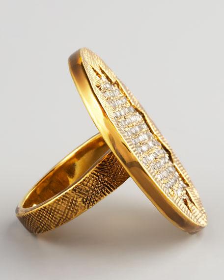 Pave Sunburst Ring
