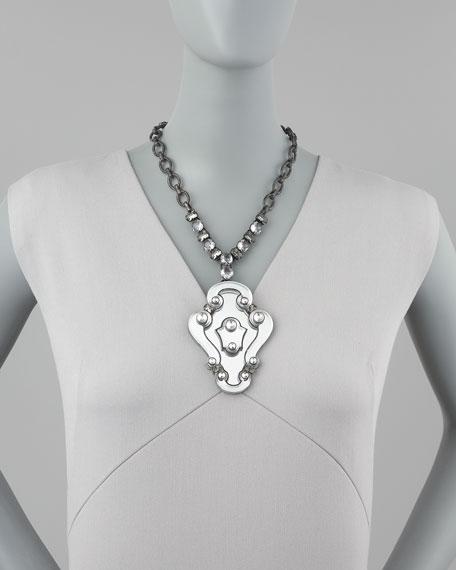 Long Mirror Pendant Necklace