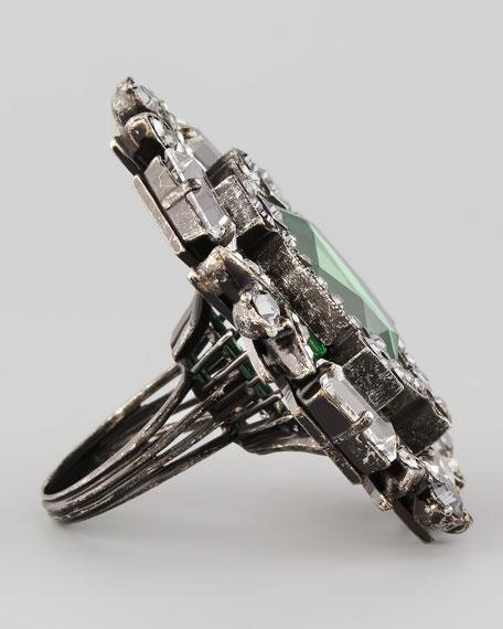 Multi-Stone Ring, Green