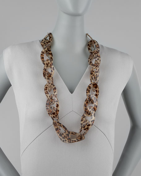Animal-Print Enamel Necklace