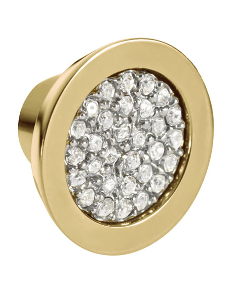 Pave Slice Studs, Golden
