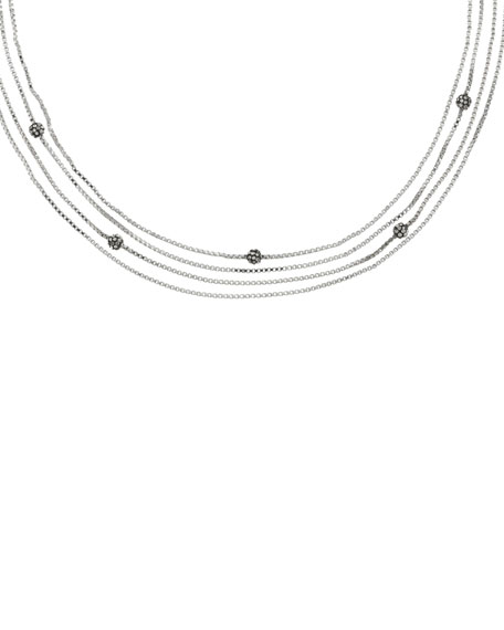 Multi-Strand Necklace, Silver Color