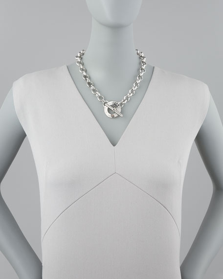 Toggle Choker Necklace, Silver