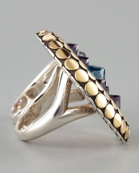 Two-Finger Multi-Stone Ring
