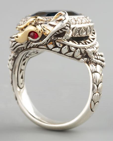 London Blue Topaz Dragon Ring, Small