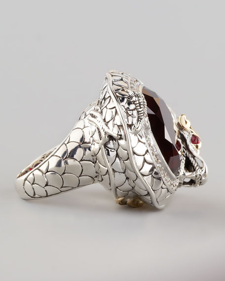 Batu Naga Pave Diamond Ring, Ruby