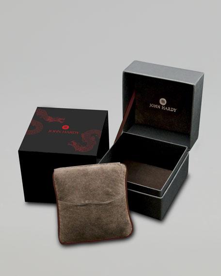 Naga Toggle Leather Bracelet, Cognac