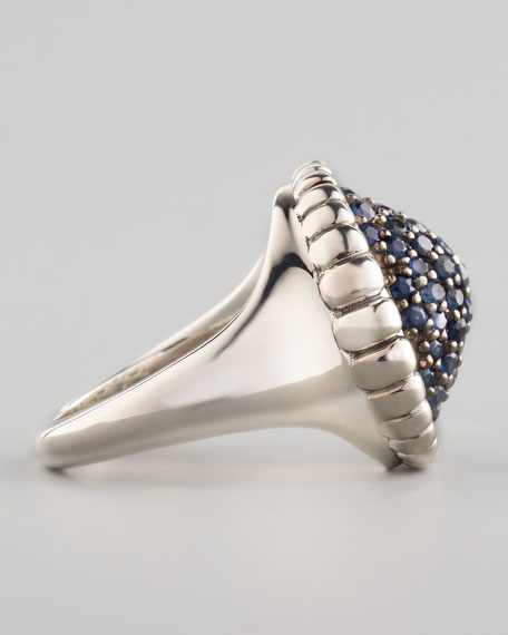 Muse Pave Blue Sapphire Ring