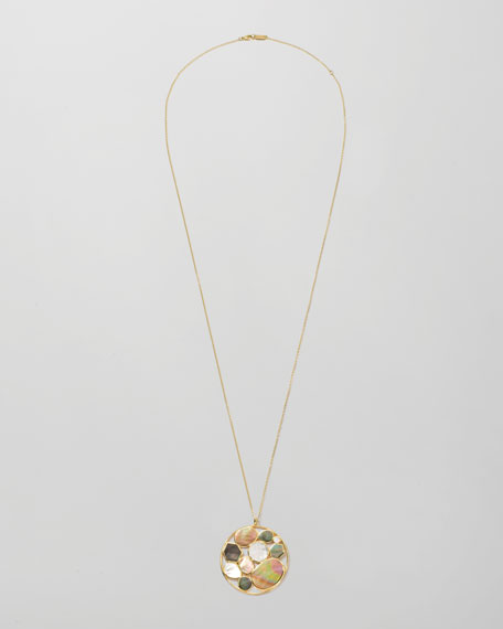 "Ondine Cluster Pendant Necklace, 36""L"