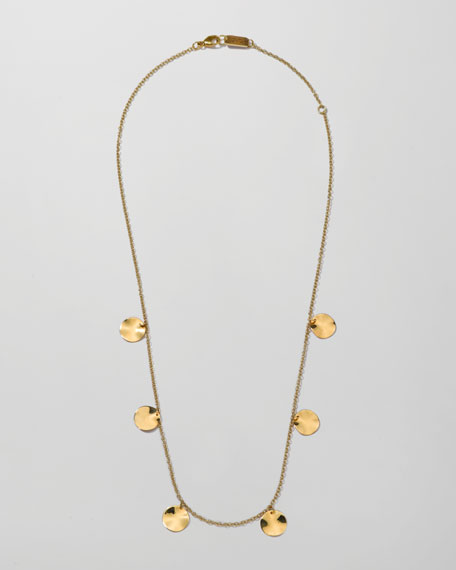Smooth Paillette Chain Necklace