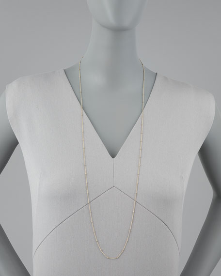 "Beaded Chain Necklace, 36""L"