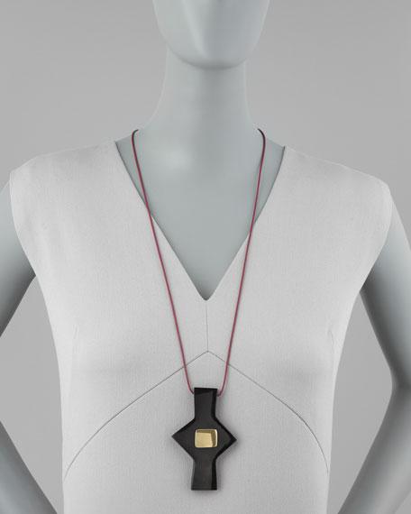 Black Horn Pendant Necklace