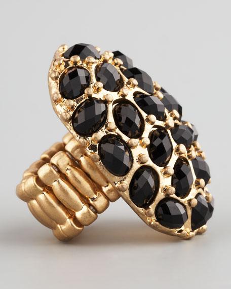 Black Crystal Stretch Ring