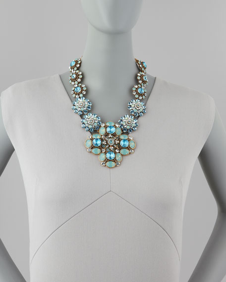 Statement-Pendant Necklace, Blue