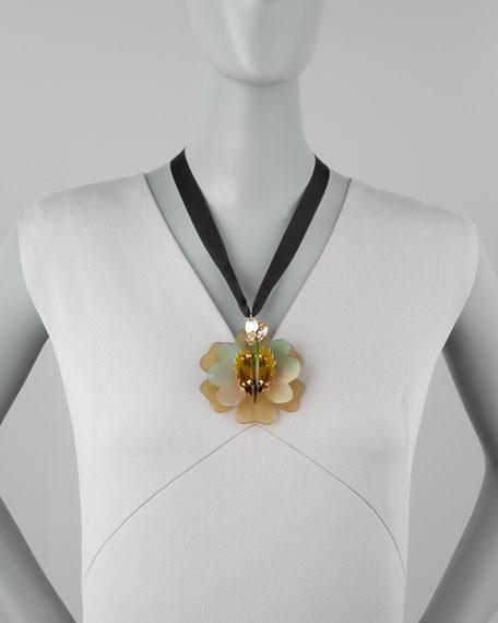 Horn Flower Pendant Necklace, Savannah
