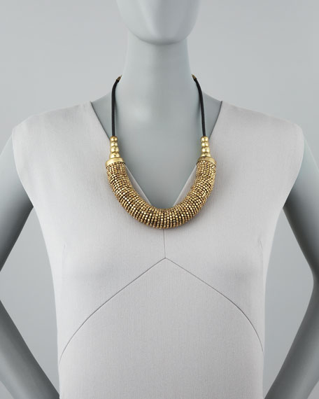 Beaded Spring-Bib Necklace