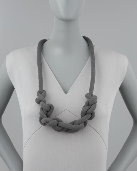 Lightweight Knotted Necklace, Flint