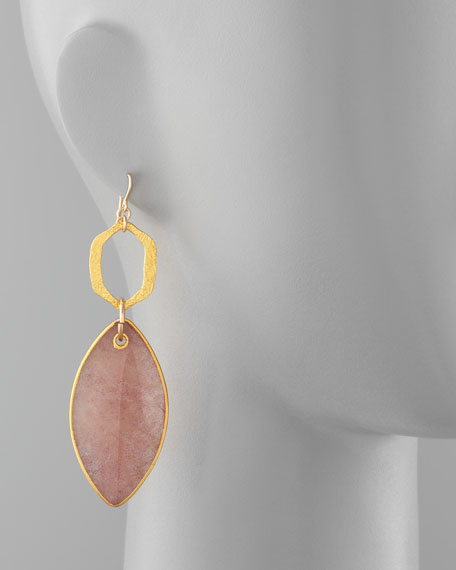 RED STAR QUARTZ DROP EARRING