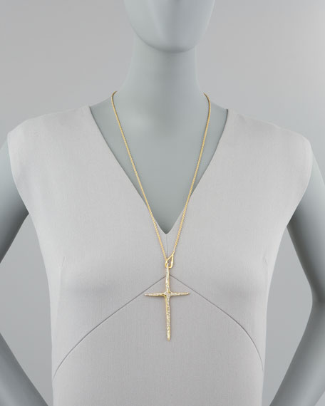 New Wave Cross Pendant Necklace