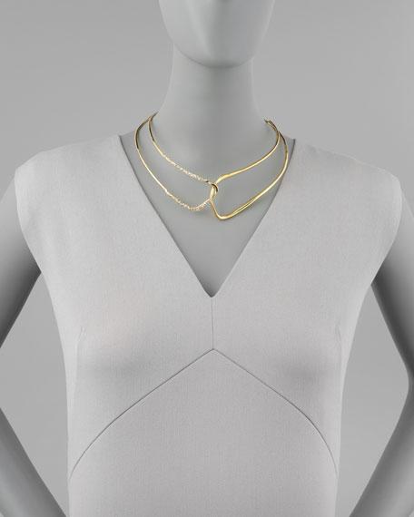 Liquid Golden Open Collar Necklace