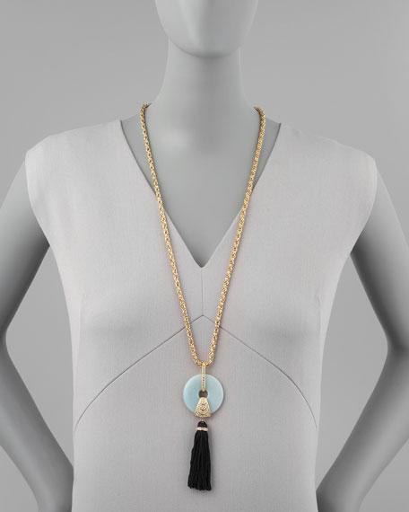 Amazonite Tassel Pendant Necklace