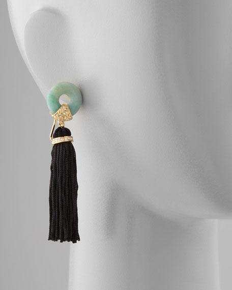 Amazonite Tassel Earrings