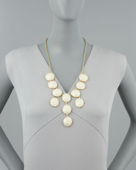 Bubble Bib Necklace, Ivory
