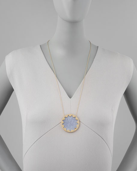 Sunburst Pendant Necklace, Blue Star
