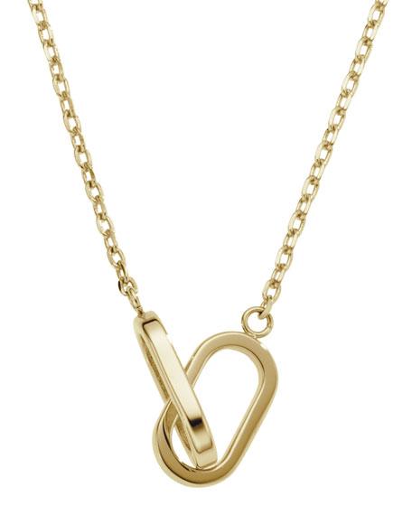 Link Pendant Necklace, Golden