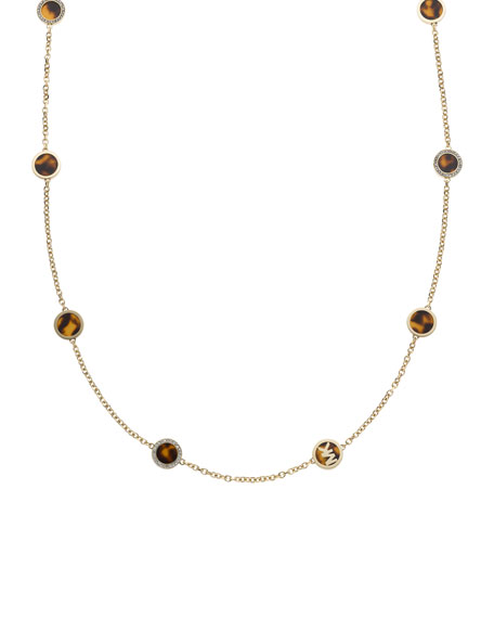 Tortoise-Station Necklace, Golden