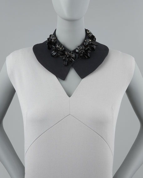 Beaded Collar Necklace, Black