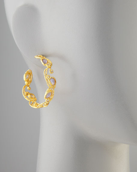 Mauritius Golden Lace Hoop Earrings