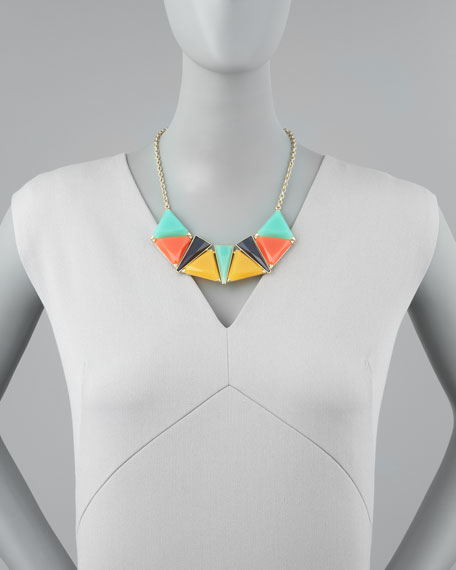 Triangle Epoxy Bib Necklace