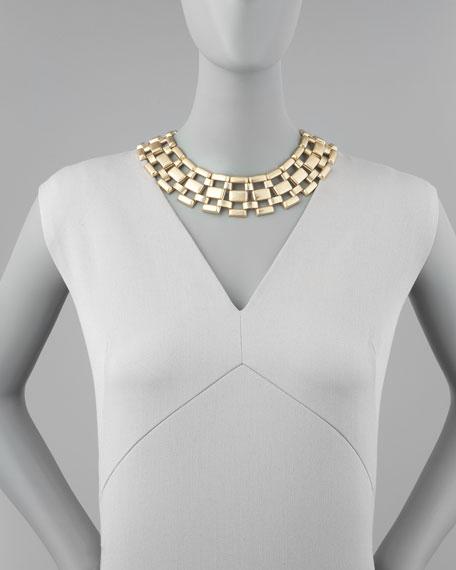 Lattice-Link Collar Necklace