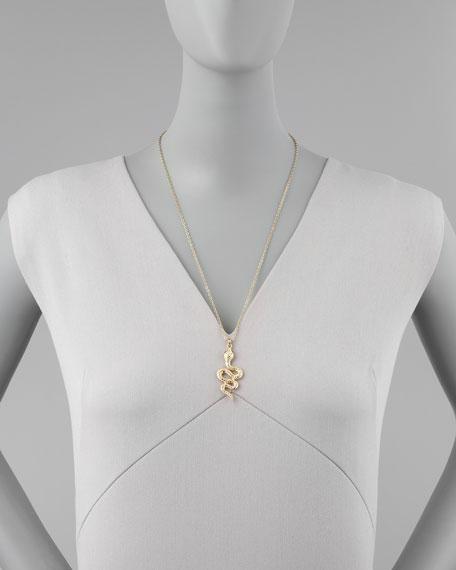 Crystal Snake Pendant Necklace