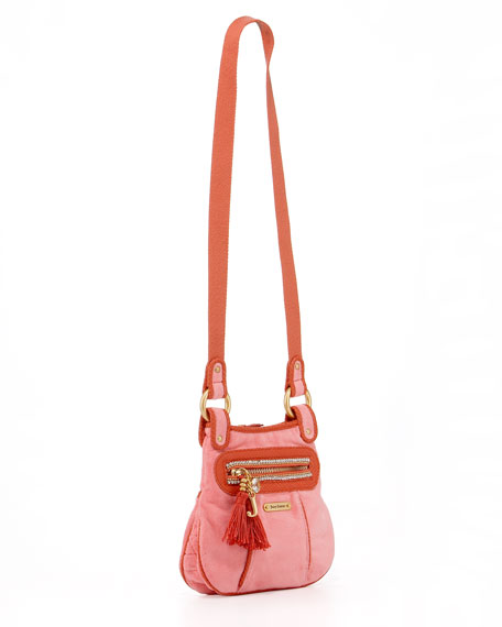 Girls' Velour Crossbody Bag