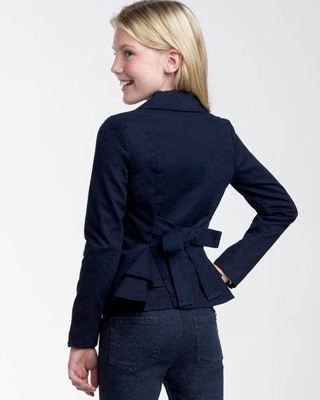 Prep School Tie-Back Blazer