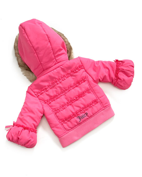 Faux-Fur-Trimmed Puffer Jacket