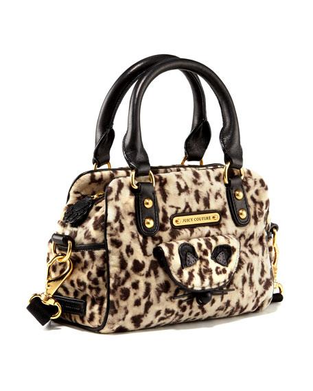 Leopard Velour Satchel